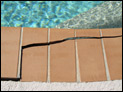 Cracked pool tile